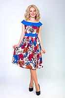 Женское платье в цветочный принт