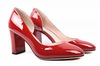 Туфли на каблуке Lady Marcia лаковая натуральная кожа, цвет красный