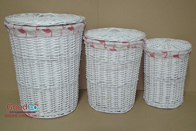 Плетеные корзины для хранения белья и игрушек