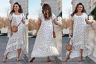 Легкое летнее платье большого размера