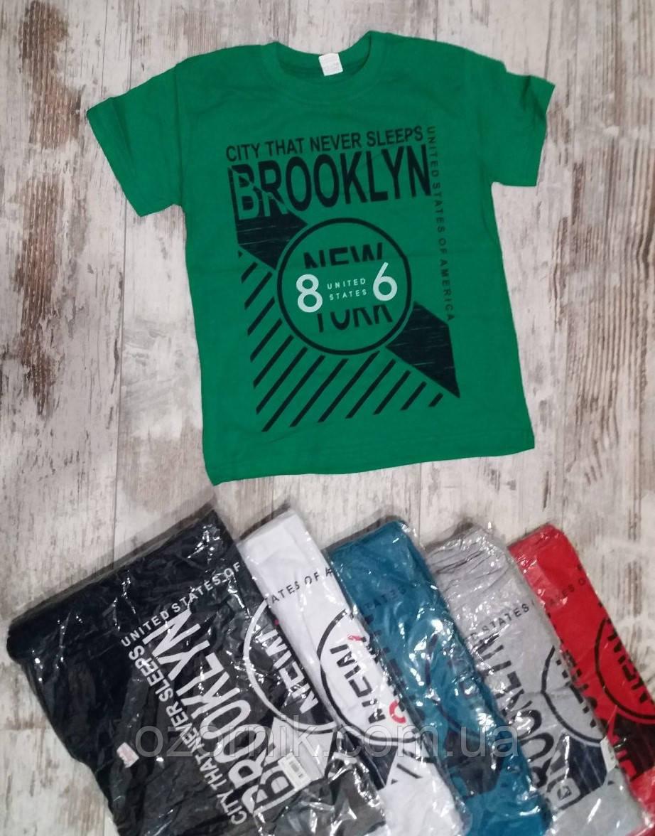 """Оптом Футболка для хлопчиків """"Brooklyn"""" 10-14 років Туреччина."""