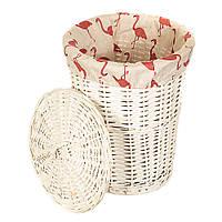 Плетеная корзина для белья (48х38х38 см.)