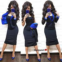 Женский элегантный костюм платье и жакет, фото 1