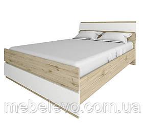 Кровать Лаура 160 920х1635х2050мм дуб велингтон + белый Сокме