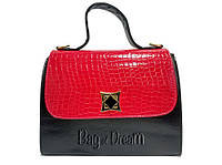 Сумка женская Bag-of-Dream TN14-49 (красно-черная/лаковая)