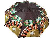Зонт женский SPonsa SP8128 (коричневый/рулетка)