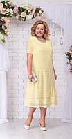 Платье Ninele-2206/2 белорусский трикотаж, желтый, 56