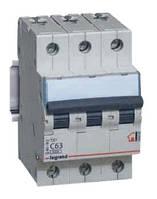 Автоматический выключатель C 6A 3П 10kA Legrand TX³ (403941)