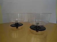 Креманка для десертов круглая (чёрная ножка) (код 04098)