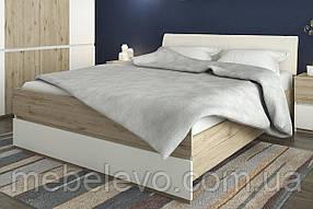 Кровать Лаура 160 Люкс 1020х1635х2050мм дуб велингтон + белый Сокме