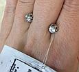Серьги гвоздики белое золото 124603, фото 3