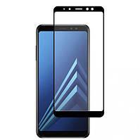 Защитное цветное стекло Mocolo (full glue) на весь экран для Samsung A530 Galaxy A8 (2018)