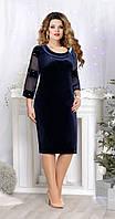 Платье Mira Fashion-4519-2 белорусский трикотаж, темно-синий, 60