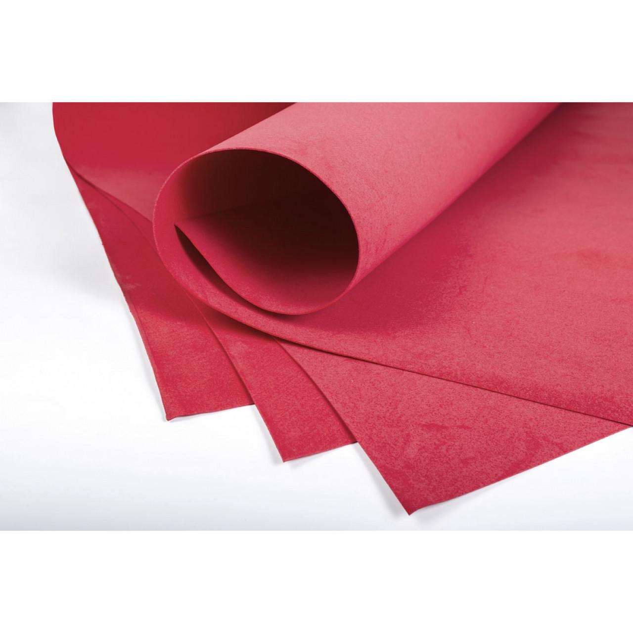 Набір фоамірану 20*30 см, 1 мм  світло-червоний  10 штук .Santi