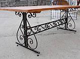 Каркас стола садового кованого ( 120x60 см), фото 4