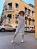 Платье с принтом, ткань: софт(хлопок с вискозой) .  Размер:  С(42-44)М(44-46). Цвет: белый (6385), фото 2