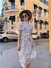 Платье с принтом, ткань: софт(хлопок с вискозой) .  Размер:  С(42-44)М(44-46). Цвет: белый (6385), фото 4