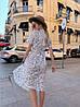 Платье с принтом, ткань: софт(хлопок с вискозой) .  Размер:  С(42-44)М(44-46). Цвет: белый (6385), фото 6