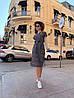 Платье, принт, ткань: софт(хлопок с вискозой) .  Размер:  С(42-44)М(44-46). Цвет: серый (6386), фото 7