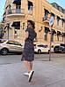 Платье, принт, ткань: софт(хлопок с вискозой) .  Размер:  С(42-44)М(44-46). Цвет: серый (6386), фото 8