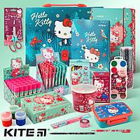 Школьный набор первоклассника для девочки Hello Kitty 28 предметов