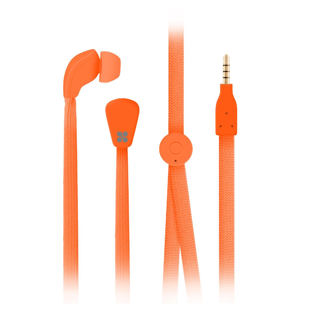 Наушники с микрофоном Promate Lacey Orange РАСПАКОВАН