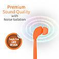 Наушники с микрофоном Promate Lacey Orange РАСПАКОВАН, фото 3