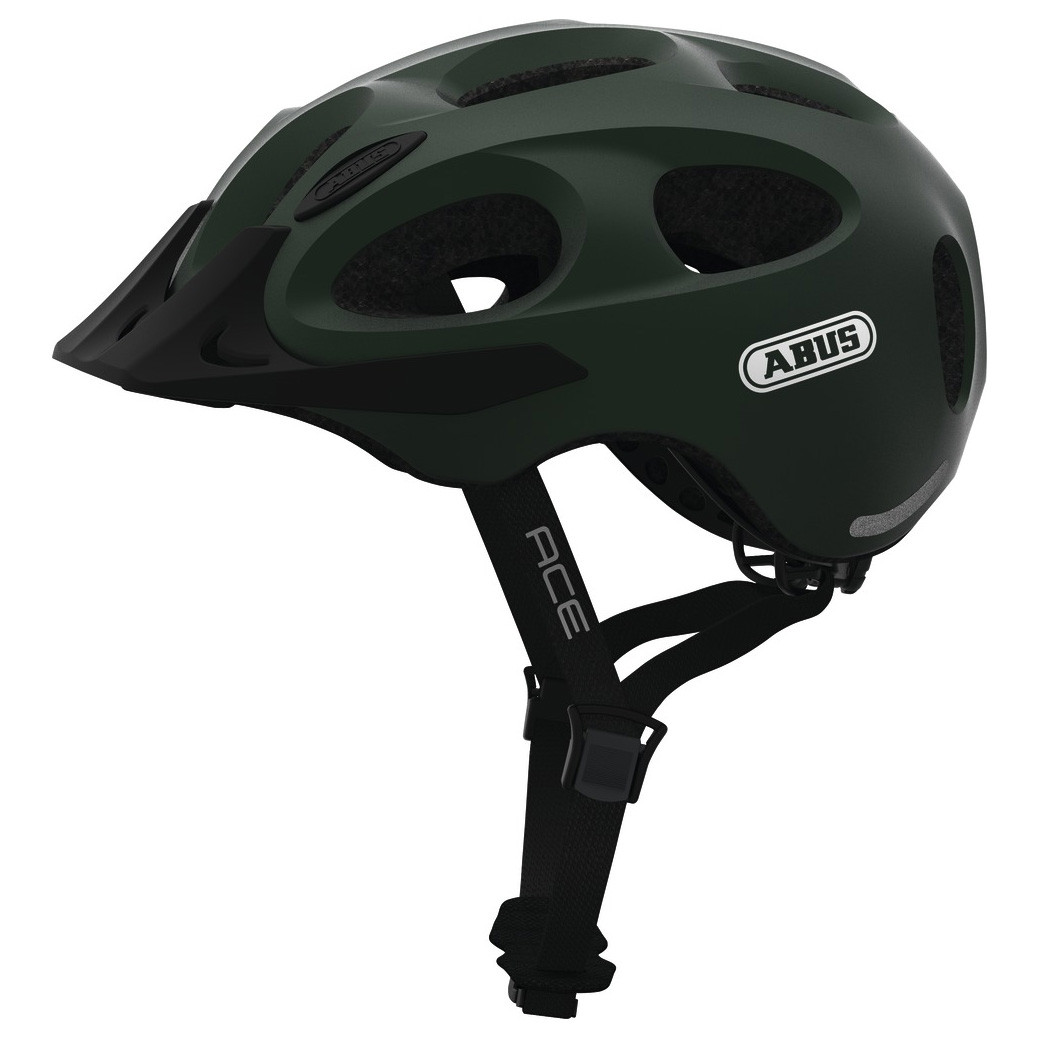 Шолом велосипедний ABUS YOUN-I ACE M Metallic Green