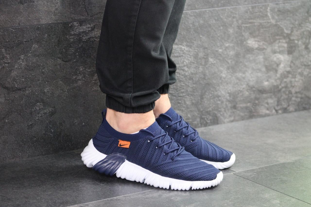 Чоловічі кросівки Nike (темно-сині з білим)