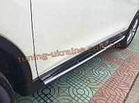Боковые площадки оригинальный дизайн V2 на Nissan X-trail T32 2014+ гг.