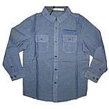 Рубашка с длинным рукавом на мальчика р - ры  98 - 110, Glo-story BCS-9723, фото 3