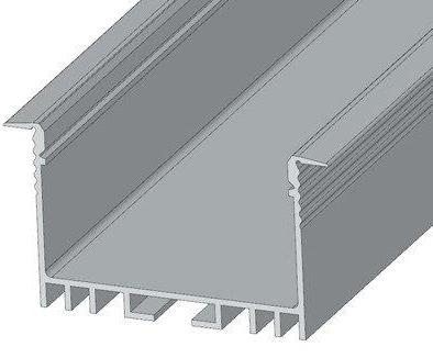 Алюминиевый врезной профиль ЛСВ-40 анод.