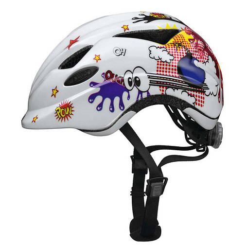 Велосипедний дитячий шолом ABUS ANUKY S White Comic, фото 2