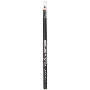 Карандаш для глаз и бровей L.A. Colors Eyeliner & Brow Pencil, Very Black