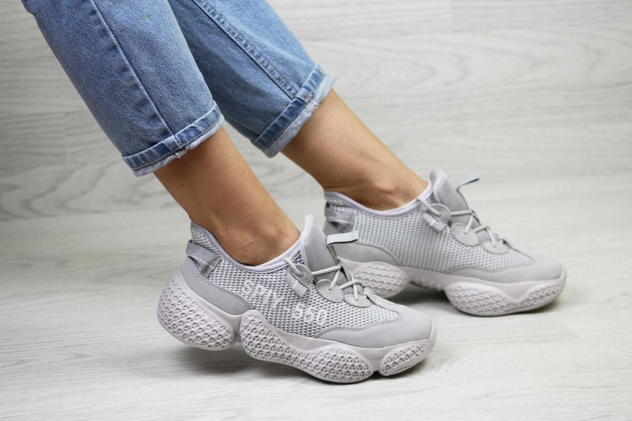 Женские кроссовки Adidas SPIY-550 (серые)