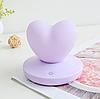 Силиконовый ночник «Сердце» фиолетовое 3DTOYSLAMP