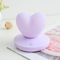 Силиконовый ночник «Сердце» фиолетовое 3DTOYSLAMP, фото 1