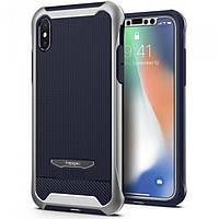 Чехол Spigen для iPhone X Reventon, Platinum Silver (057CS22648), фото 1
