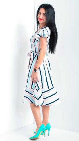 Легкое платье в полоску размеры 44,46,48,50, фото 2