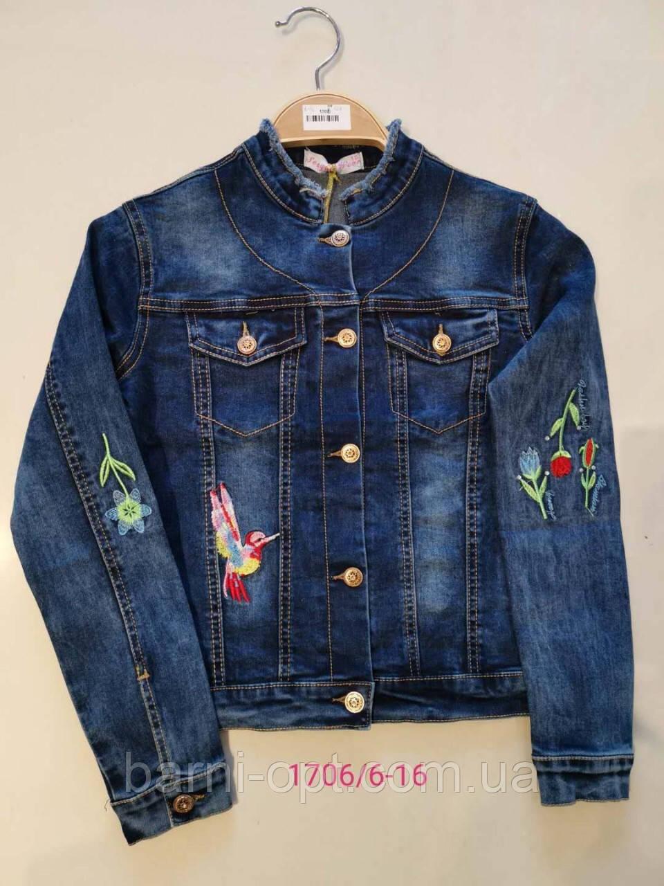Джинсовые куртки для девочек оптом, Seagull, 6-16 рр.