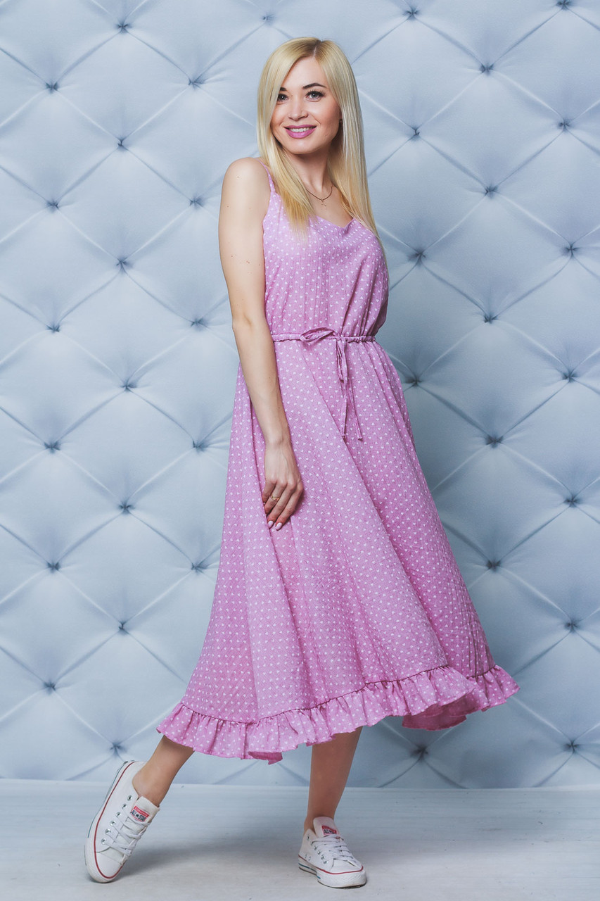 Сарафан женский летний розовый