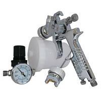 Набор покрасочный пневматический H-827 с рег. воздуха, тип HVLP, ВБ, форсунки 1,4 и 1,7 мм AUARITA