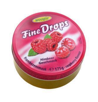 Леденцы (конфеты) Woogie Fine Drops (мелкие капли)  с малиновым вкусом Австрия 175г