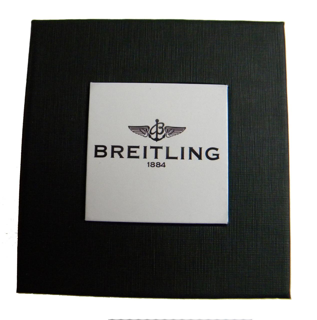 Подарочная упаковка - коробка для часов, Breitling (Брайтлинг), черный с белым ( код: IBW108-8 )