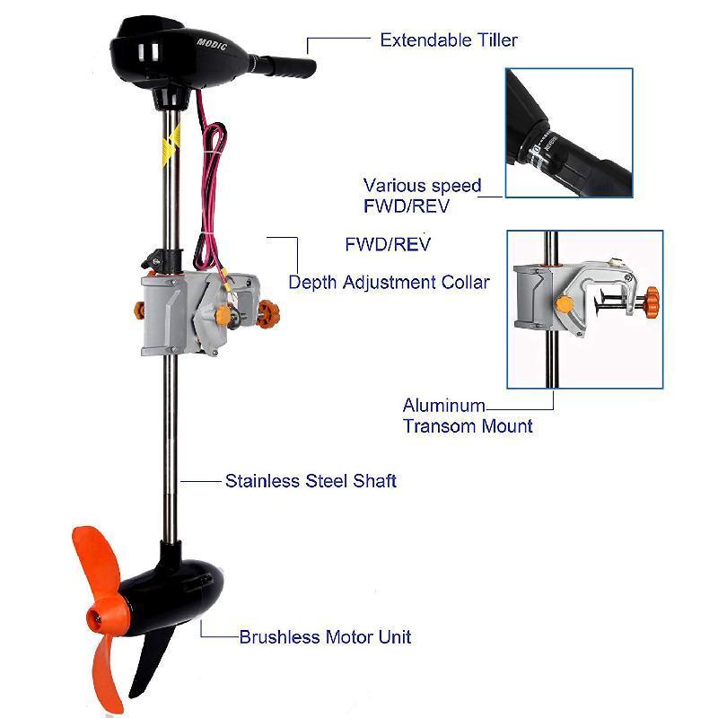 Лодочный электромотор Fisher 250 24V (Фишер 250)