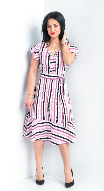 Легкое платье в полоску размеры 44,46,48,50,52
