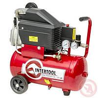 Компрессор бытовой 24 л Intertool PT-0010