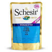 Натуральные консервы для котят Schesir тунец в овощном желе 100 гр