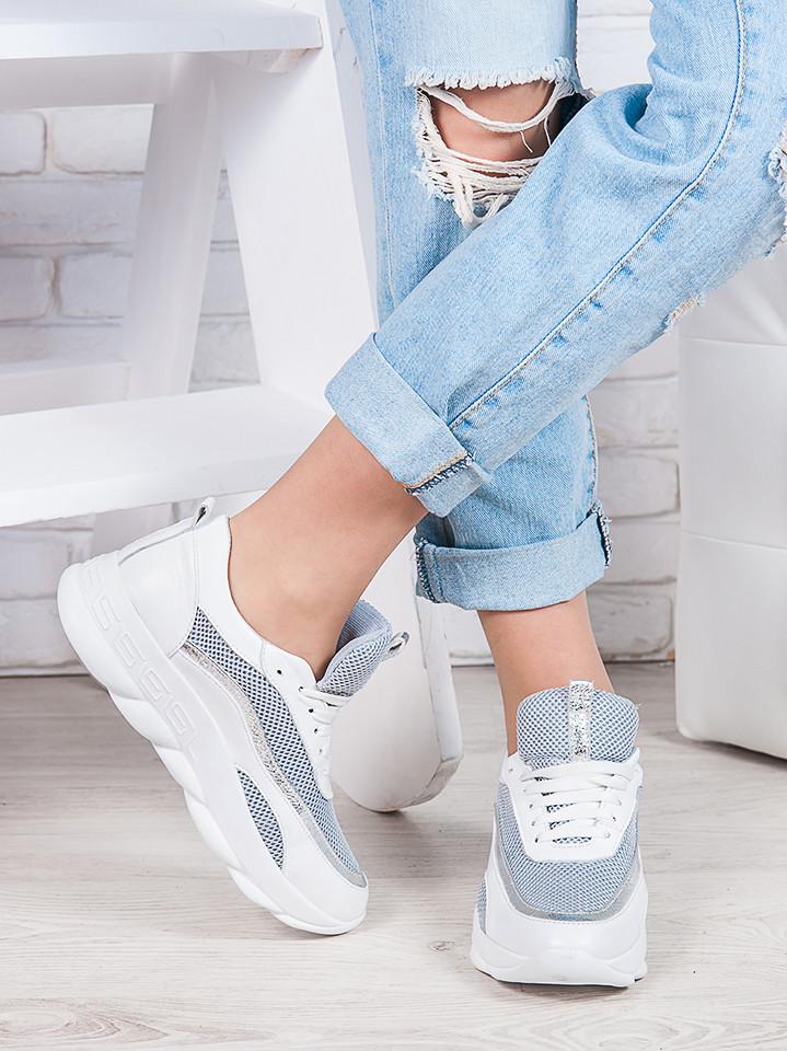Летние белые кроссовки 6876-28