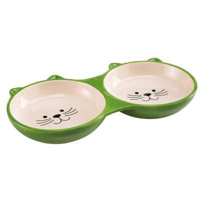 FerpLast Izar Двойная керамическая миска для кошек, фото 2